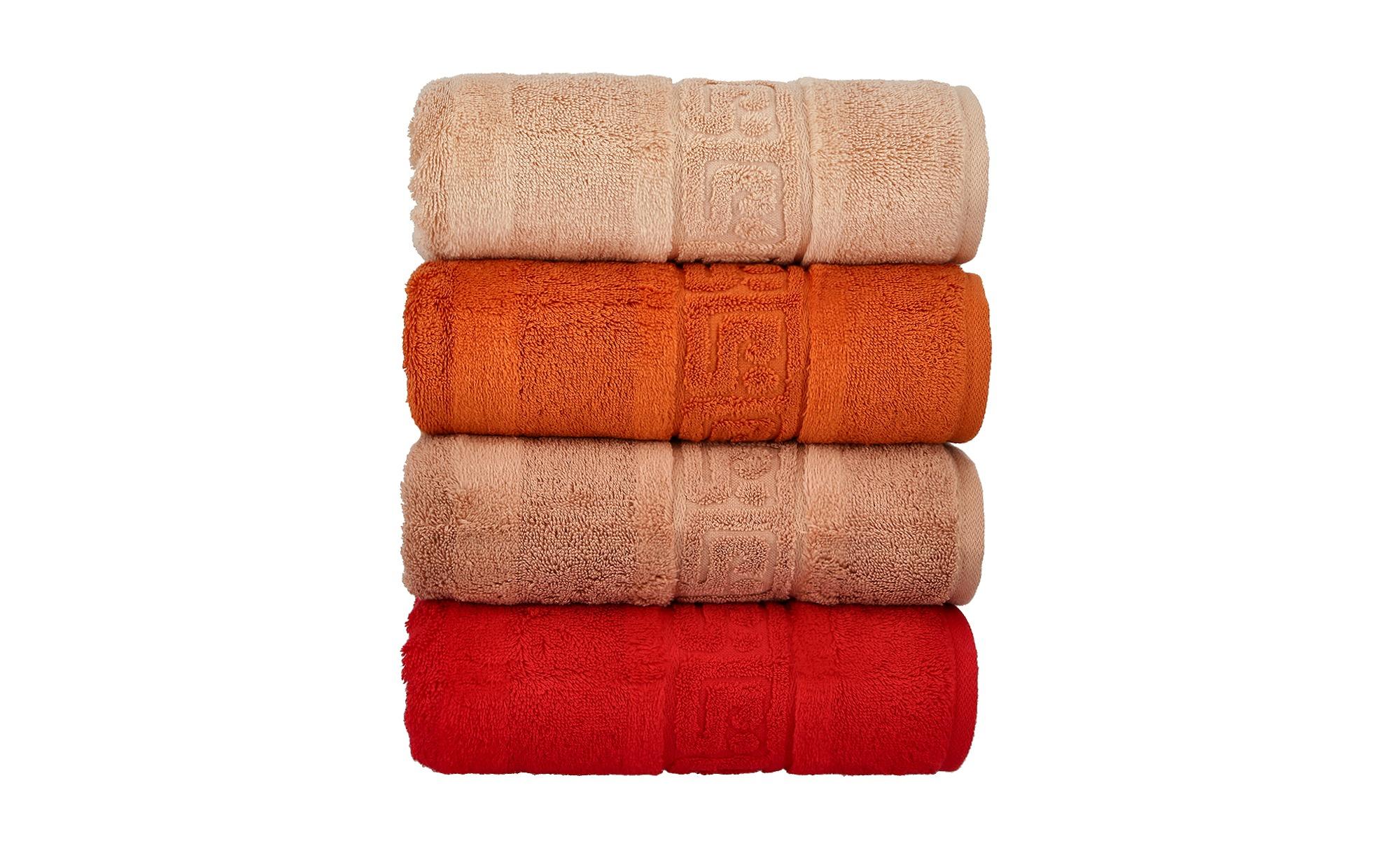 CaWö Handtuch  1001 ¦ orange ¦ 100% Baumwolle ¦ Maße (cm): B: 50 Badtextilien und Zubehör > Handtücher - Höffner