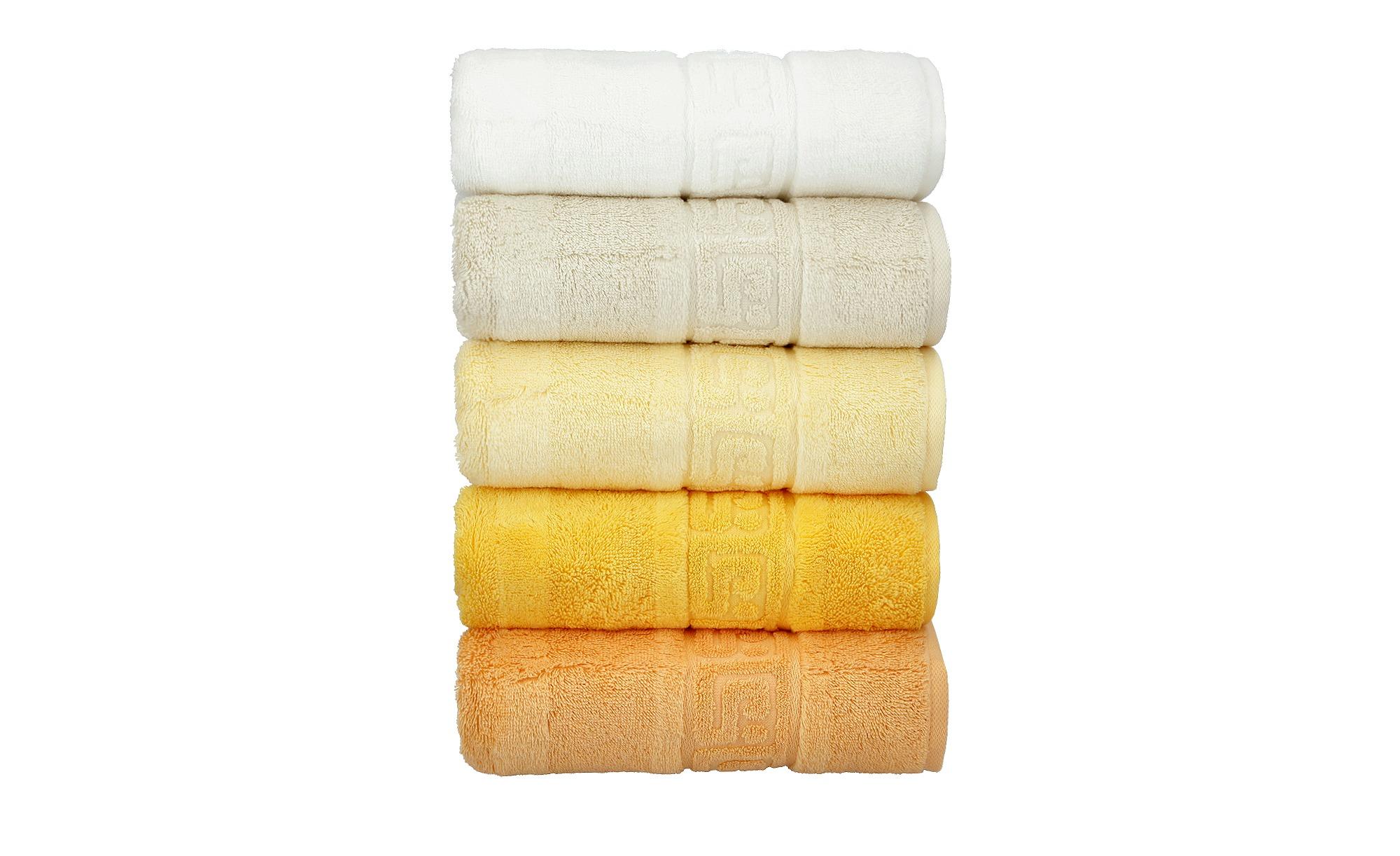 CaWö Duschtuch  1001 ¦ gelb ¦ 100% Baumwolle ¦ Maße (cm): B: 80 Badtextilien und Zubehör > Handtücher & Badetücher > Duschtücher - Höffner