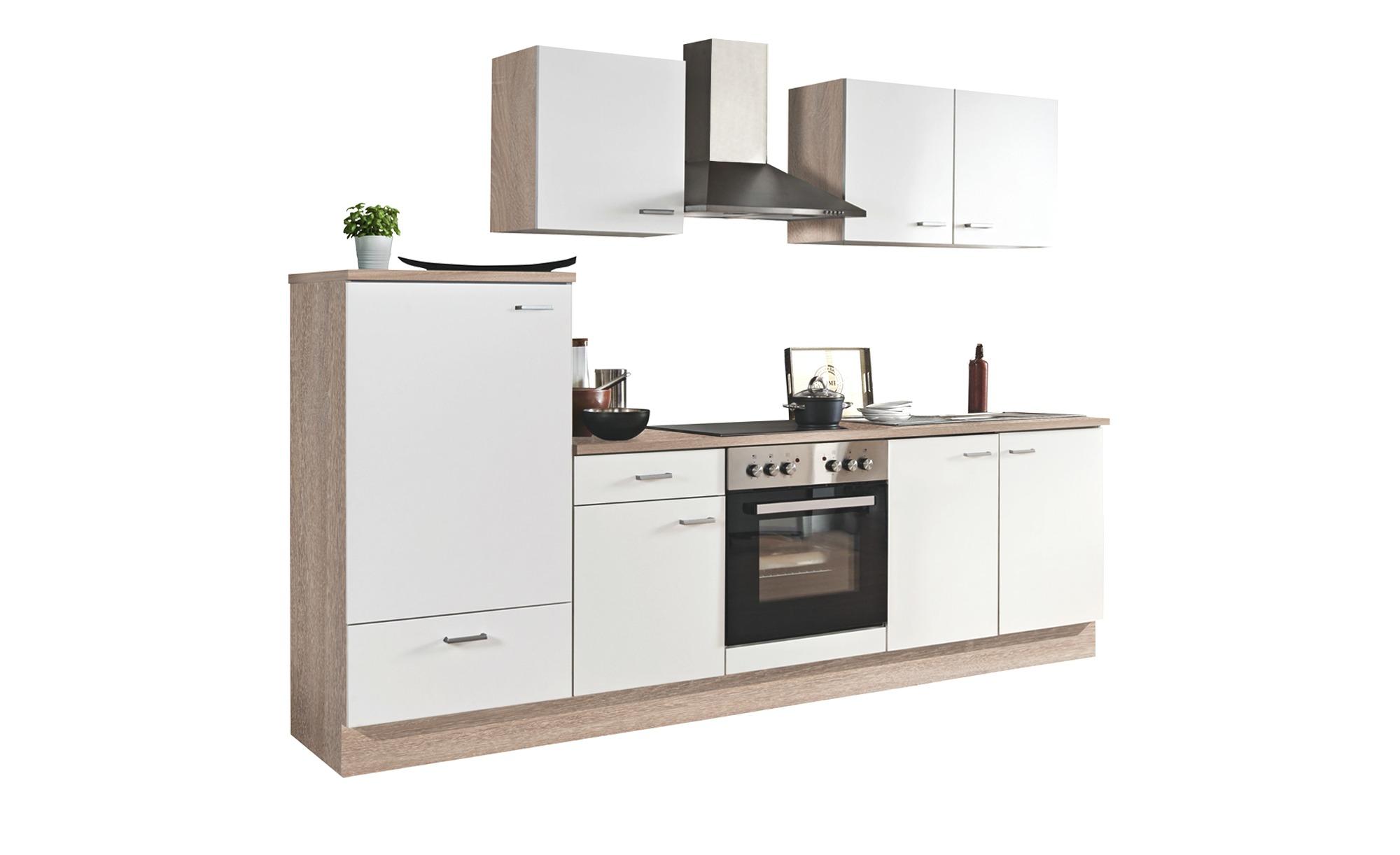 uno Küchenzeile mit Elektrogeräten  Mainz ¦ weiß ¦ Maße (cm): B: 270 Küchen > Küchenblöcke mit E-Geräten - Höffner