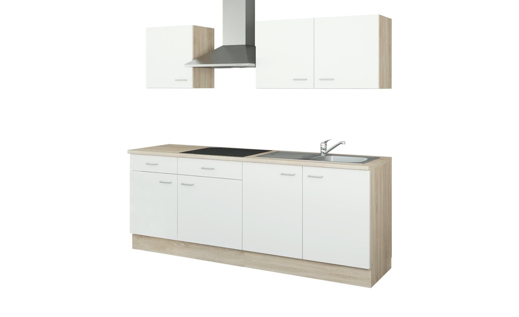 uno Küchenzeile mit Elektrogeräten  Bonn ¦ weiß ¦ Maße (cm): B: 210 Küchen > Küchenblöcke mit E-Geräten - Höffner