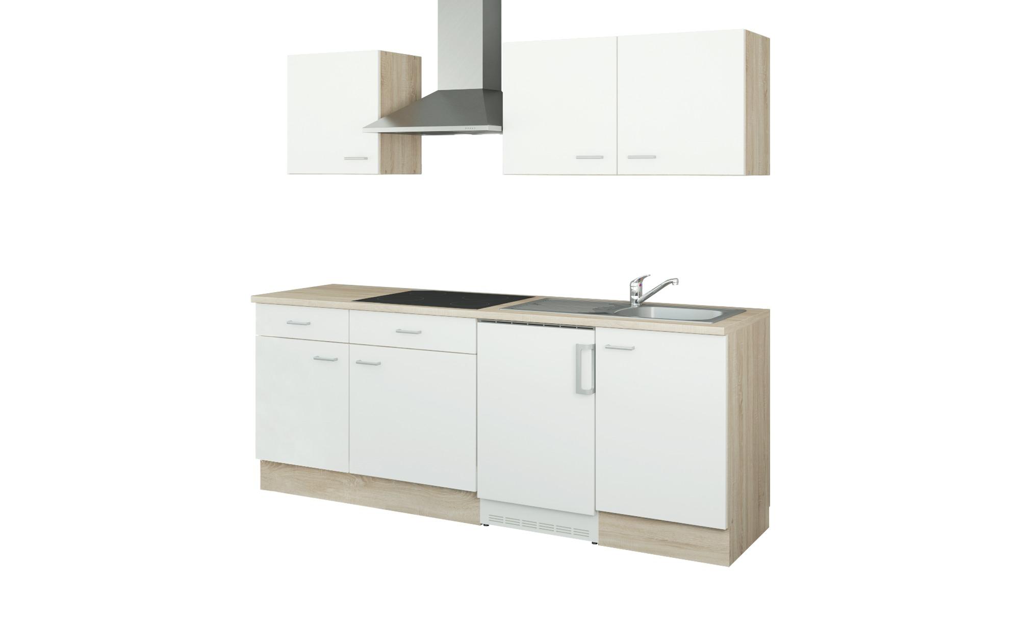 uno Küchenzeile mit Elektrogeräten  Bremen ¦ weiß ¦ Maße (cm): B: 210 Küchen > Küchenblöcke mit E-Geräten - Höffner