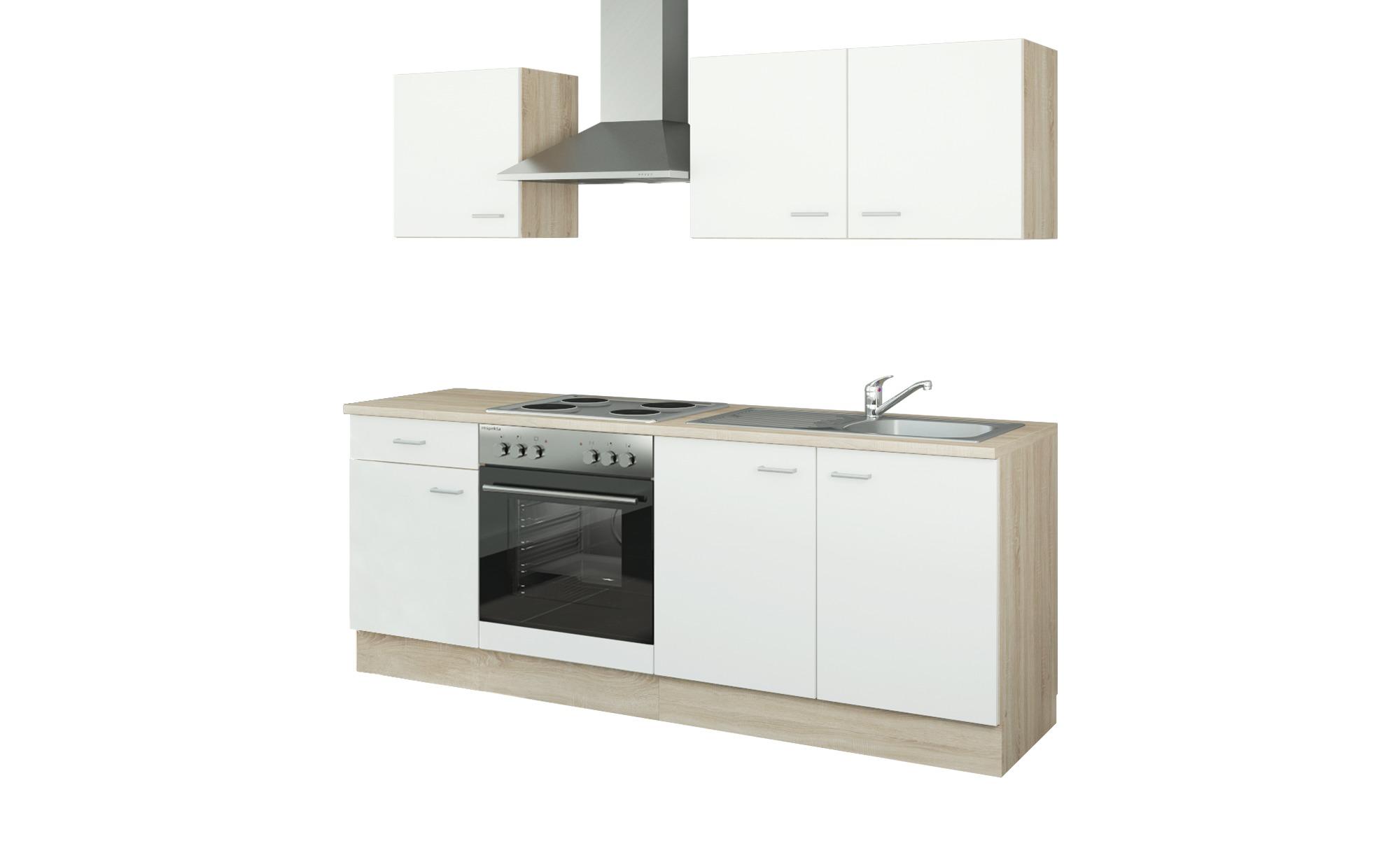 uno Küchenzeile mit Elektrogeräten  Halle ¦ weiß ¦ Maße (cm): B: 210 Küchen > Küchenblöcke mit E-Geräten - Höffner