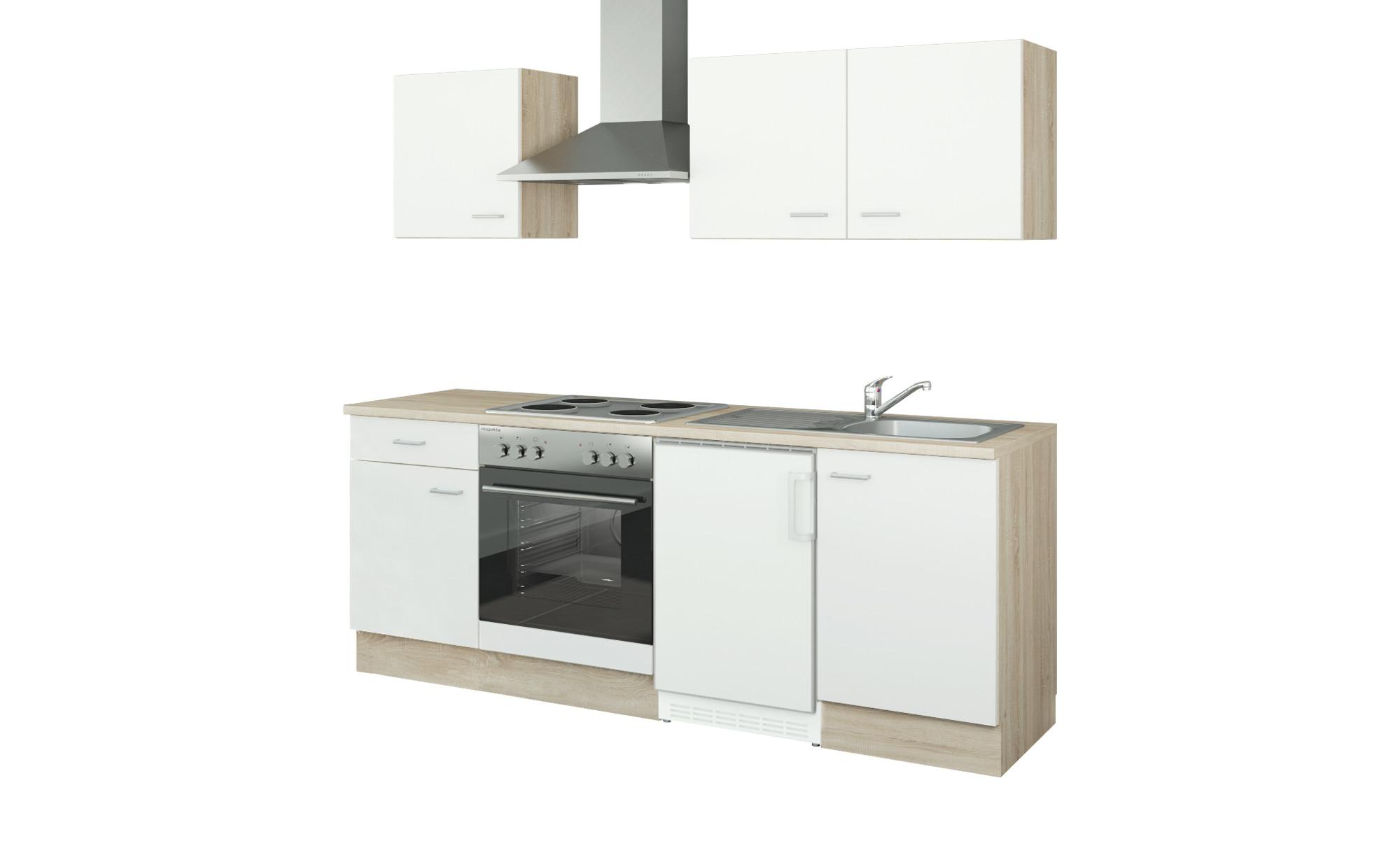 uno Küchenzeile mit Elektrogeräten  Ulm ¦ weiß ¦ Maße (cm): B: 210 Küchen > Küchenblöcke mit E-Geräten - Höffner
