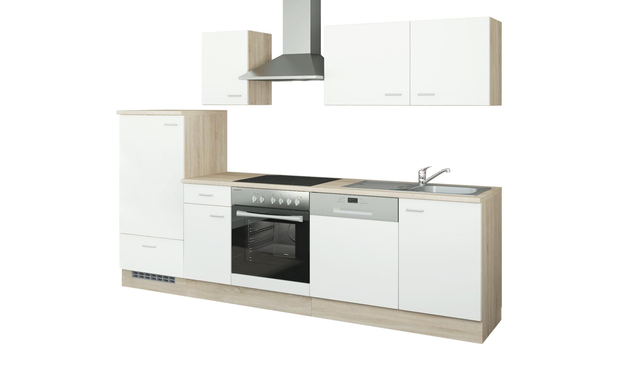 uno Küchenzeile mit Elektrogeräten  Berlin ¦ weiß Küchen > Küchenblöcke mit E-Geräten - Höffner