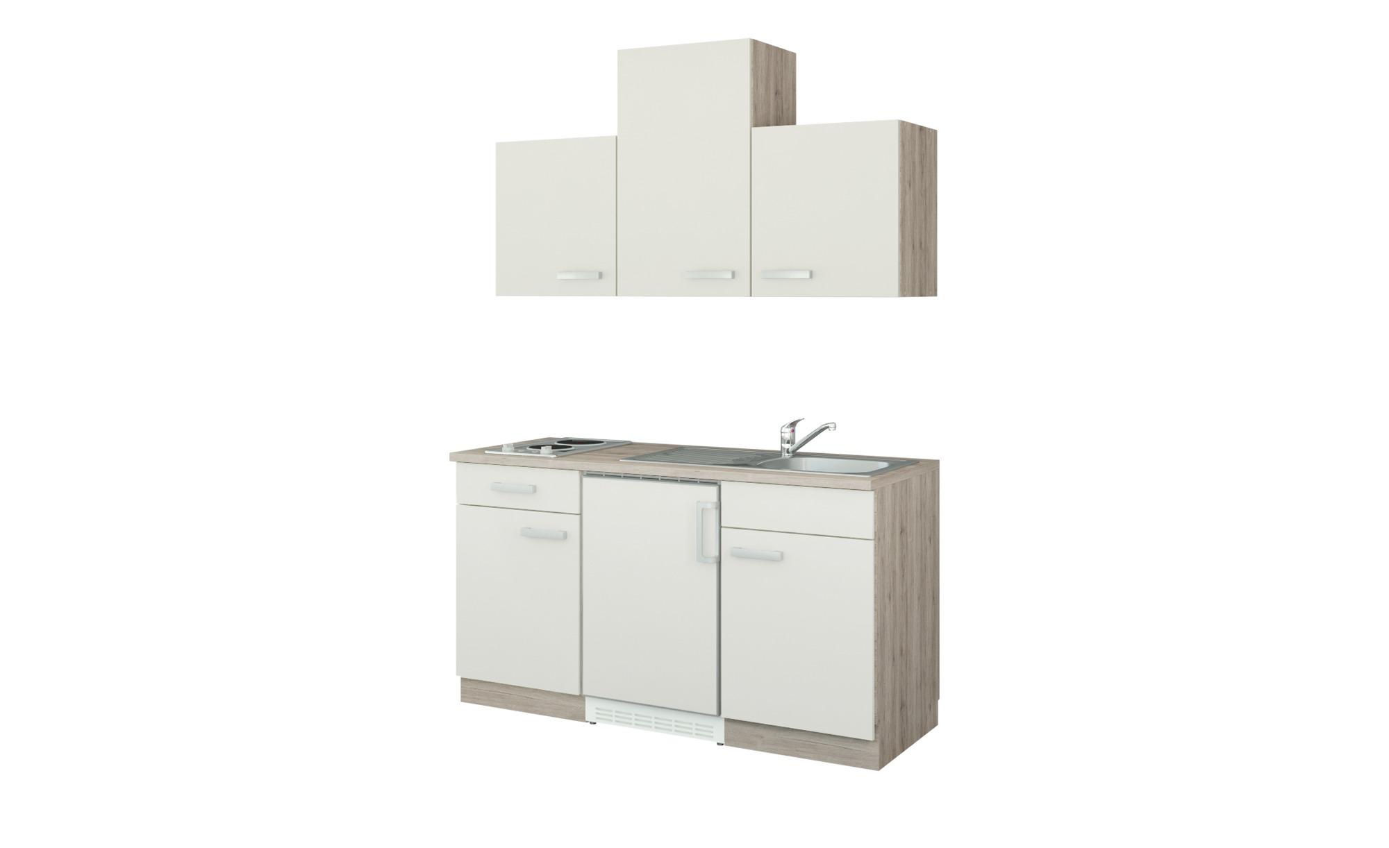 uno Küchenzeile mit Elektrogeräten  Jena ¦ beige ¦ Maße (cm): B: 150 Küchen > Küchenblöcke mit E-Geräten - Höffner