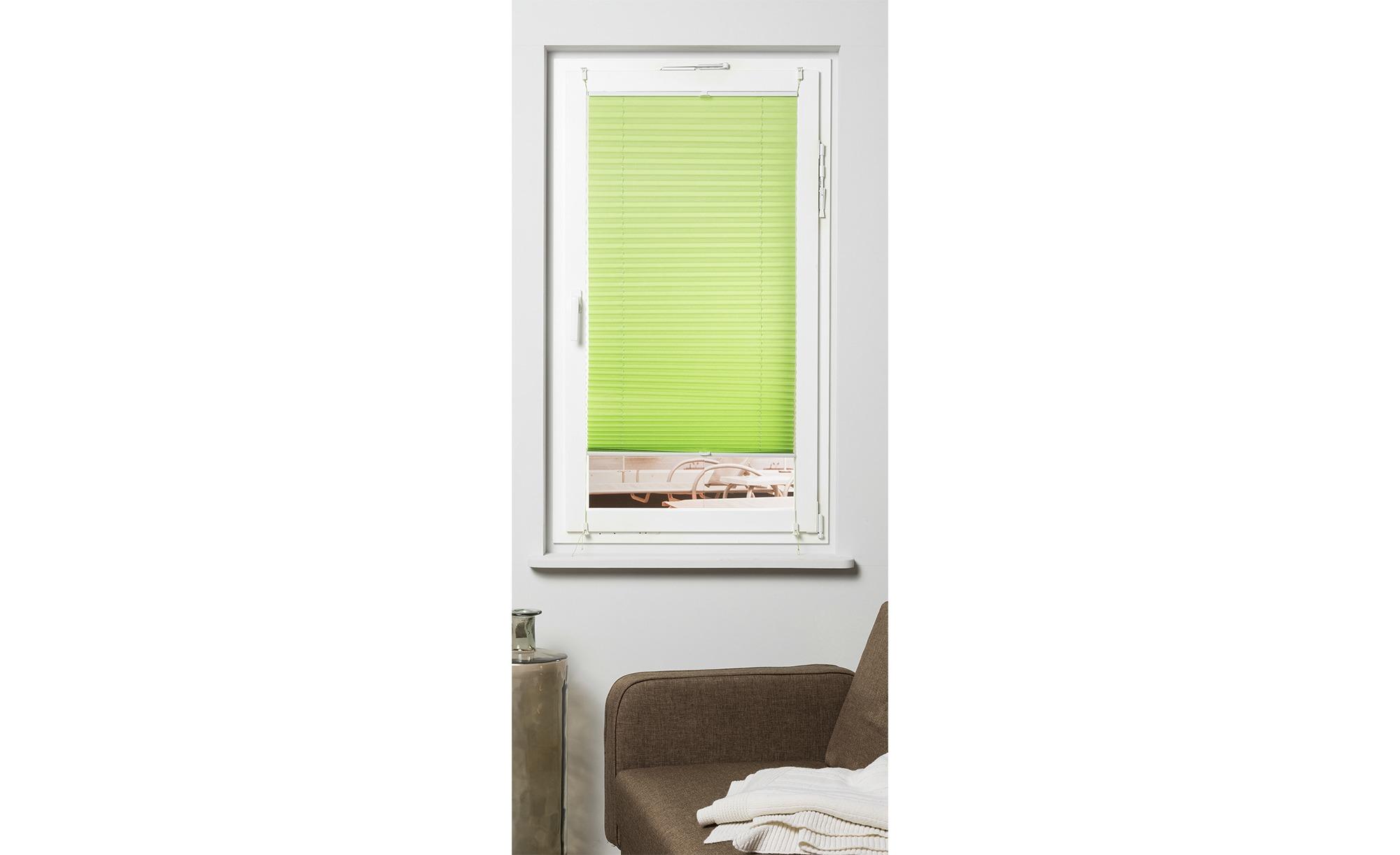 KHG Plissee Klemmfix ¦ grün ¦ Polyester ¦ Maße (cm): B: 120 Gardinen & Vorhänge > Rollos & Sonnenschutz > Plissees - Höffner