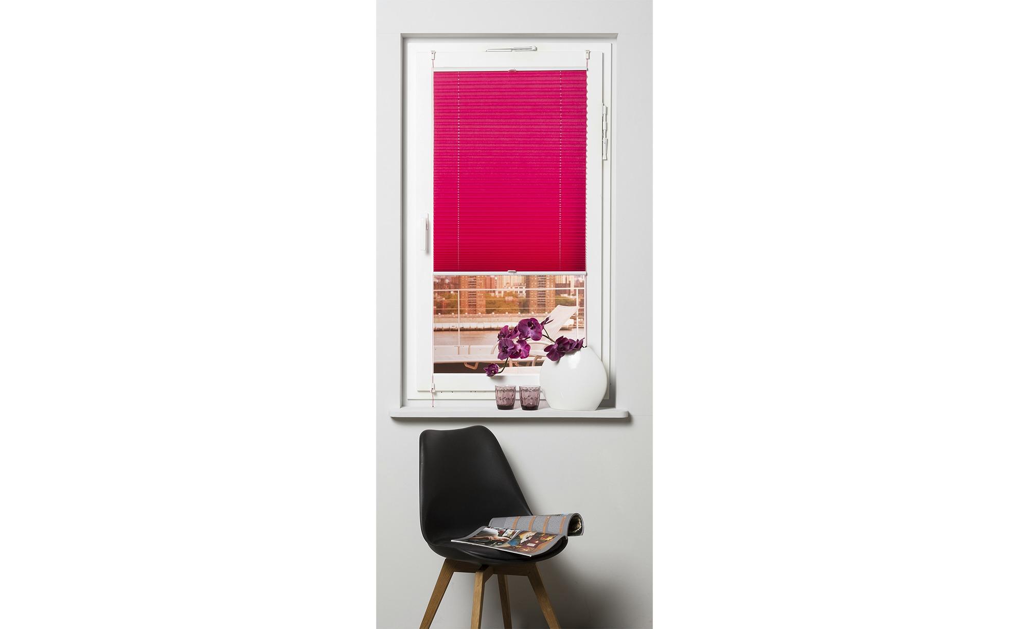KHG Plissee Klemmfix ¦ rosa/pink ¦ Polyester ¦ Maße (cm): B: 120 Gardinen & Vorhänge > Rollos & Sonnenschutz > Plissees - Höffner