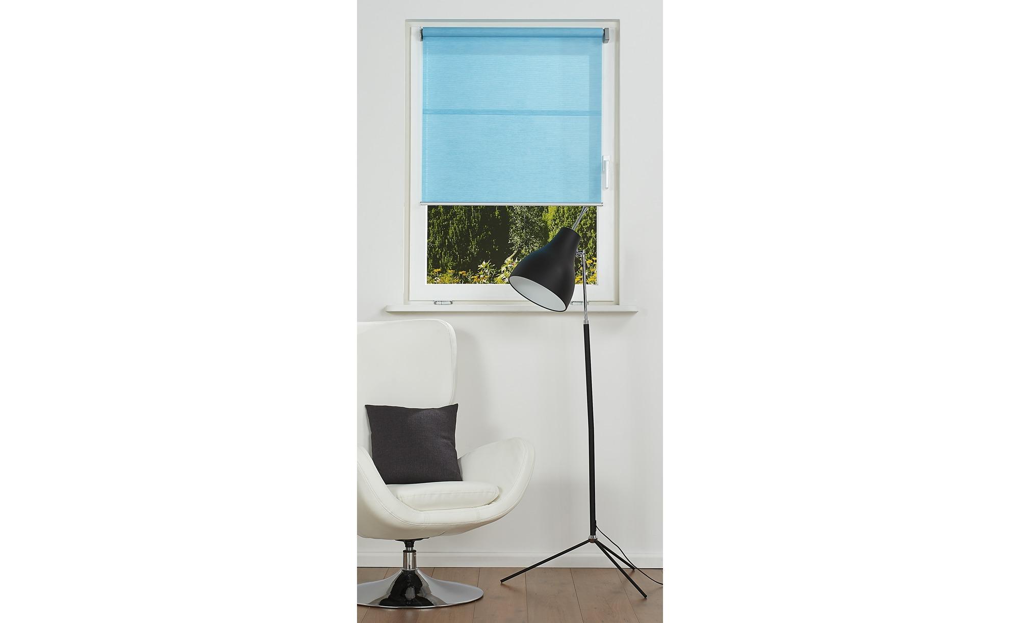 Rollo  Emma light ¦ blau ¦ 29% Polyester, 71% Papier ¦ Maße (cm): B: 75 Gardinen & Vorhänge > Rollos & Sonnenschutz > Rollos - Höffner