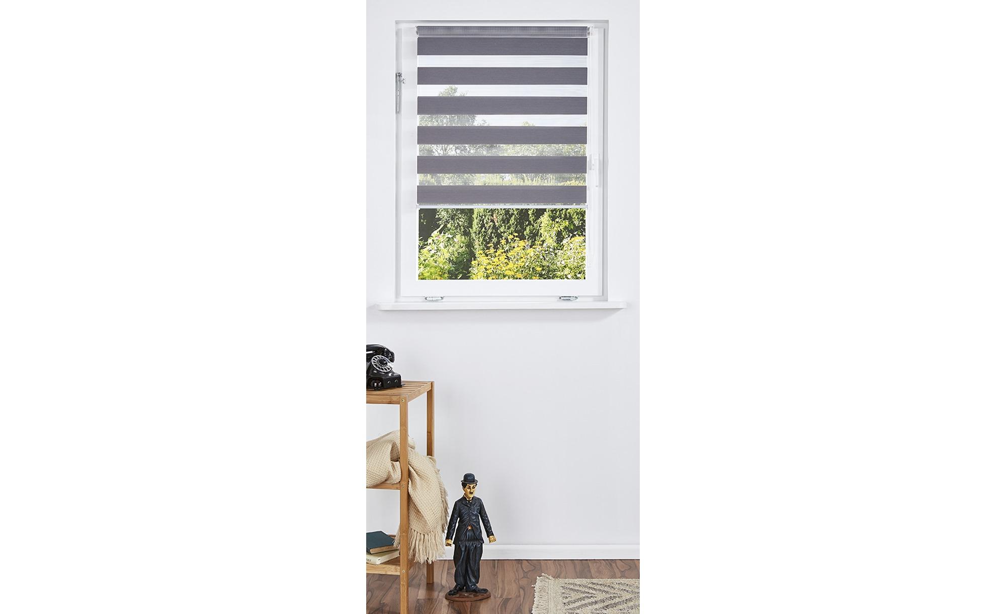 HOME STORY Klemmfix-Duo-Rollo ¦ grau ¦ 100% Polyester ¦ Maße (cm): B: 60 Gardinen & Vorhänge > Rollos & Sonnenschutz > Rollos - Höffner
