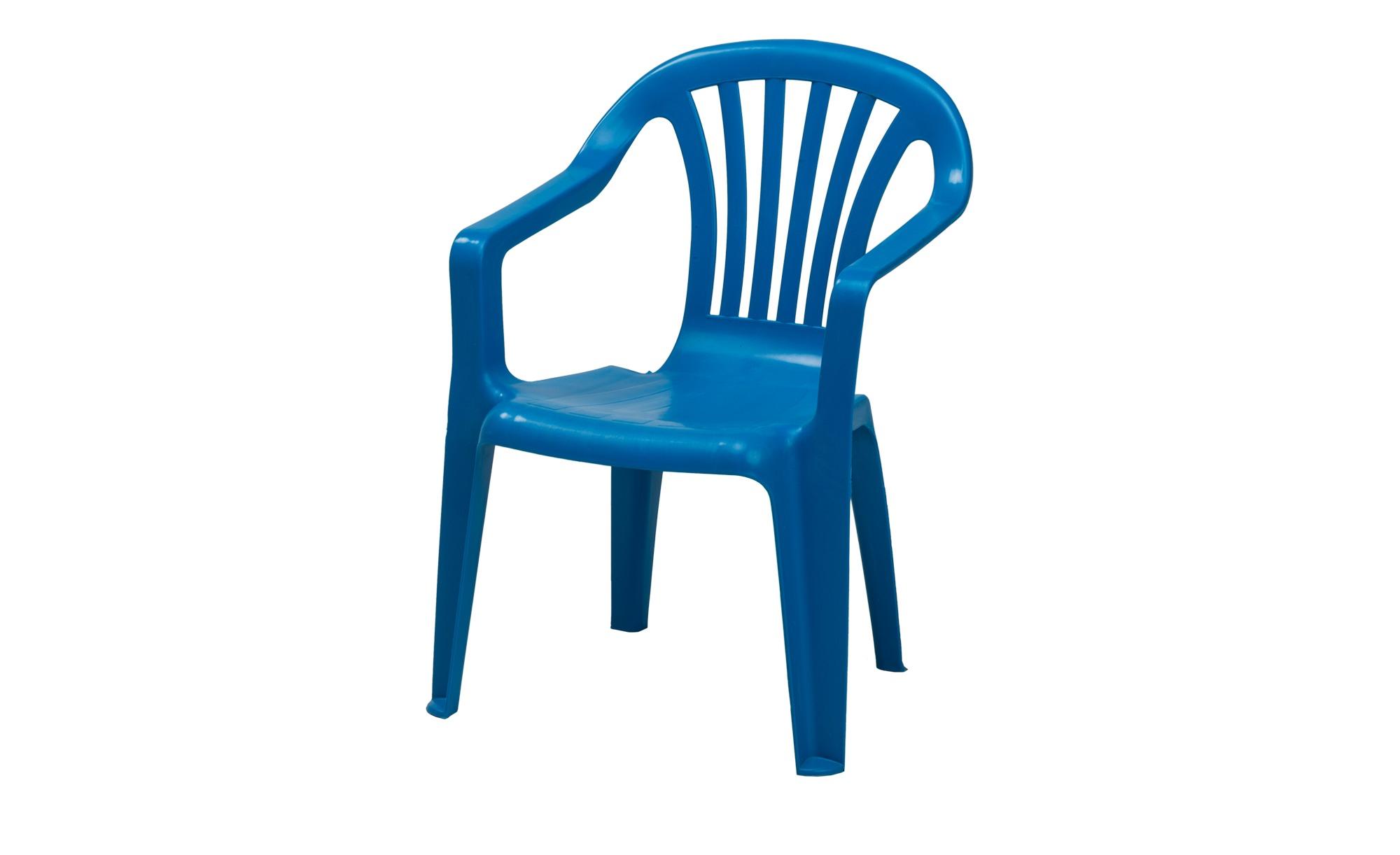 Blauer Kinder-Stapelsessel aus Kunststoff