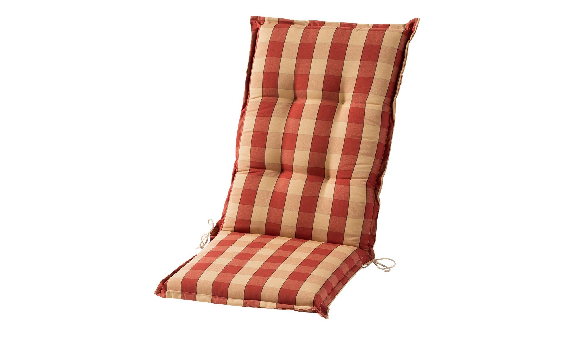Sesselauflage hoch  Kent rot ¦ rot ¦ Maße (cm): B: 50 H: 9 Garten > Auflagen & Kissen > Hochlehner-Auflagen - Höffner