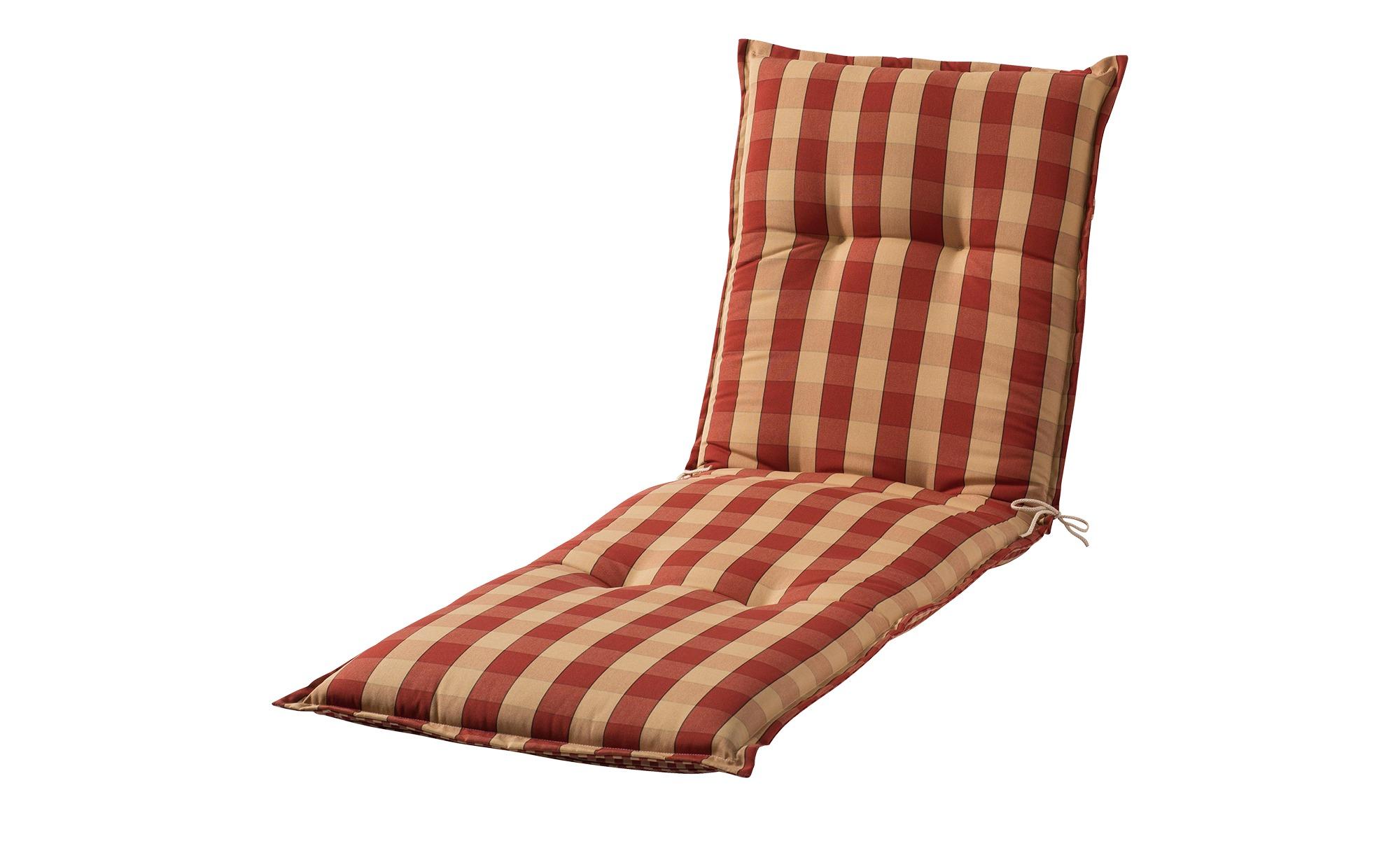 Liegenauflage  Kent rot ¦ rot ¦ Maße (cm): B: 63 H: 9 Garten > Auflagen & Kissen > Gartenliegen-Auflagen - Höffner