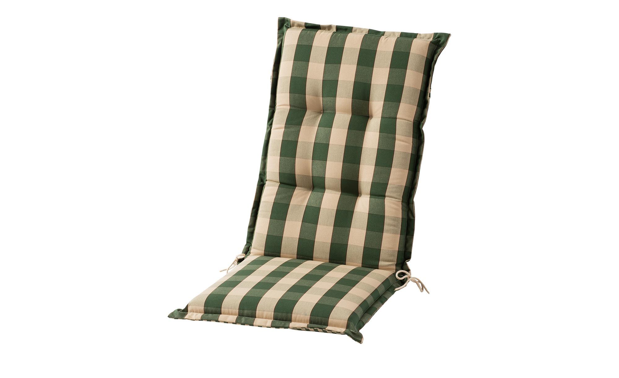 Sesselauflage hoch  Kent grün ¦ grün ¦ Maße (cm): B: 50 H: 9 Garten > Auflagen & Kissen > Hochlehner-Auflagen - Höffner