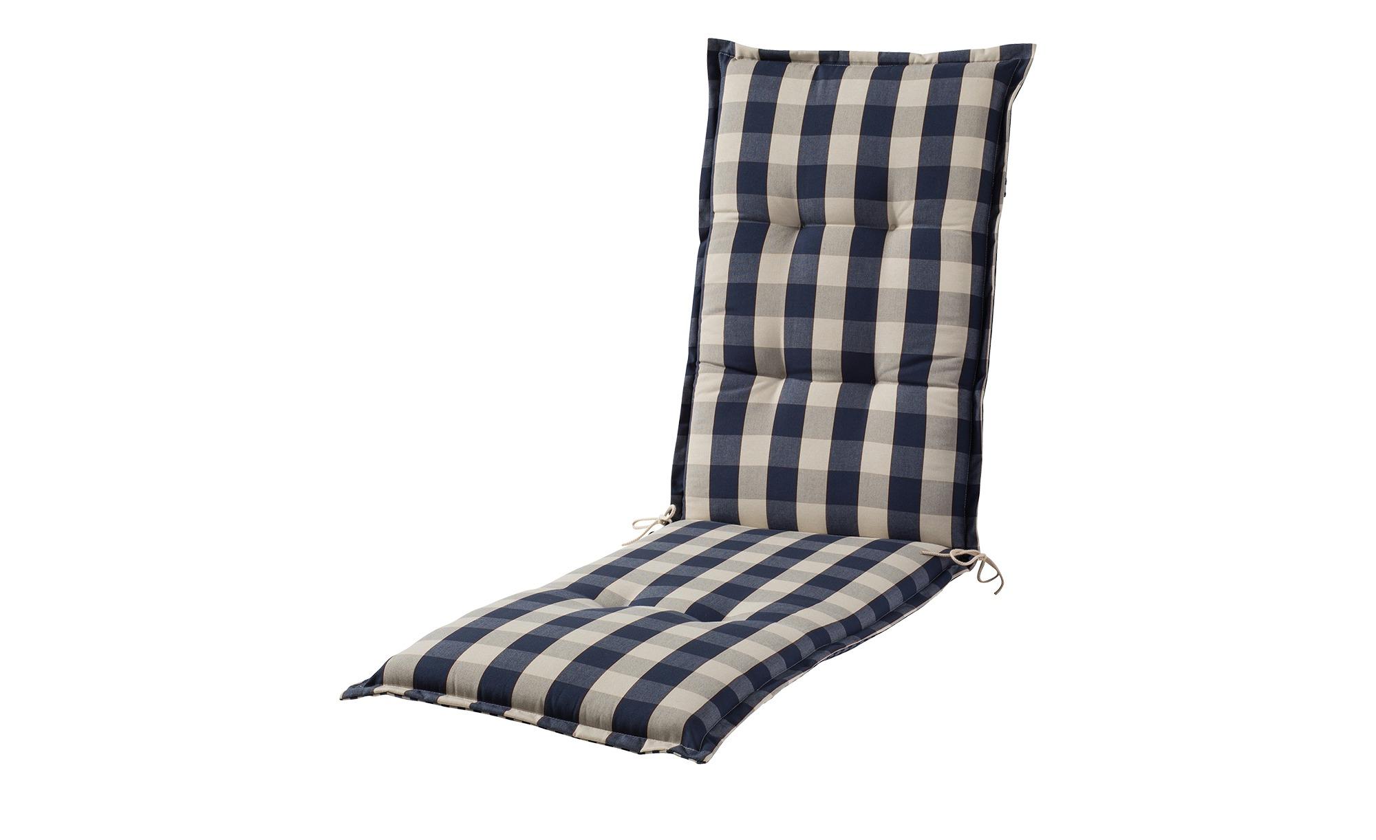 Relaxauflage  Kent ¦ blau ¦ Webkaro, 100% Dralon (Polyacryl) ¦ Maße (cm): B: 50 H: 8 Garten > Auflagen & Kissen > Sonstige Sitzkissen - Höffner