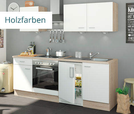 holzfarbene Küchen