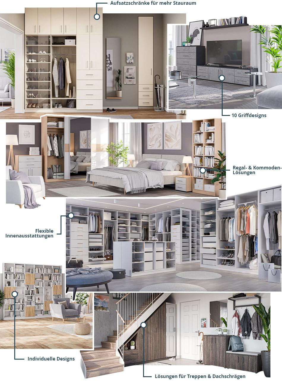 Möbelwerke Collage Schränke & Co
