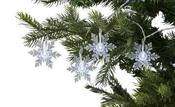 LED Lichterkette  Schneeflocken