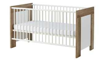 Kinderbett 70x140 weiß & holzfarben Henry