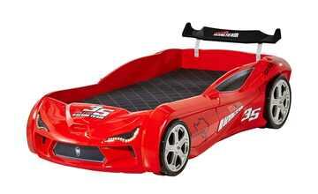 Autobett-Gestell rot Red Star